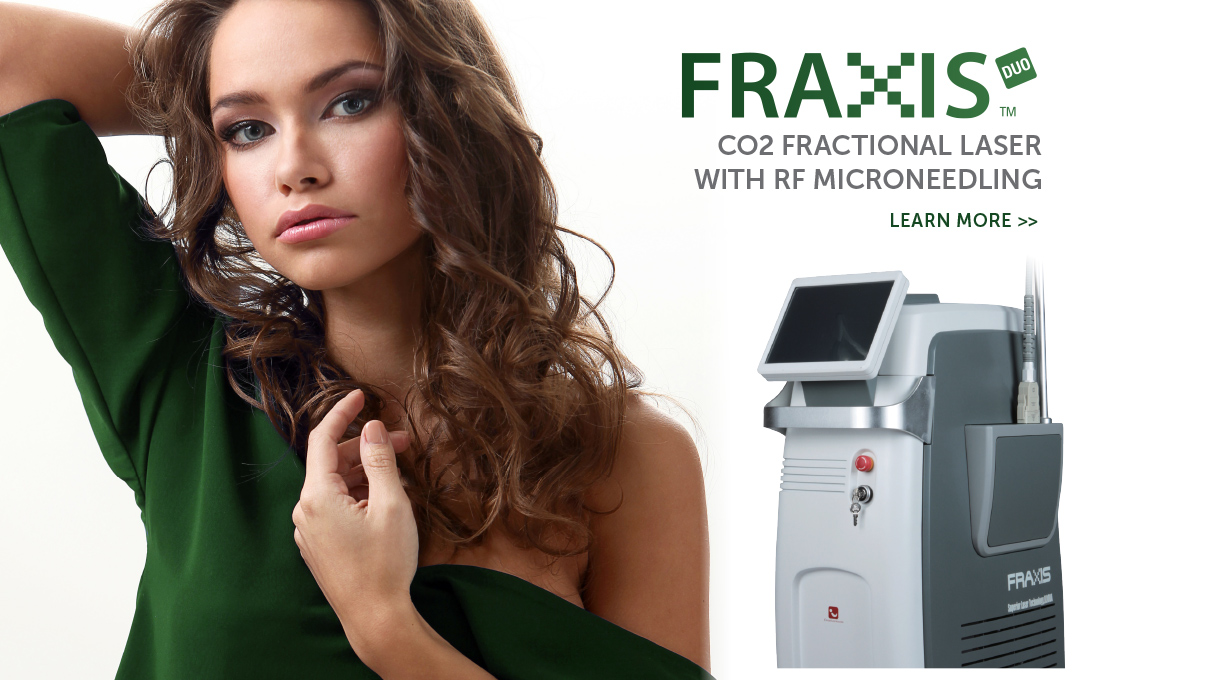 Fraxis Duo CO2 Fractional Laser with RF Microneedling Device Slider Image | Emvera Technologies, Medical and Cosmetic Devices