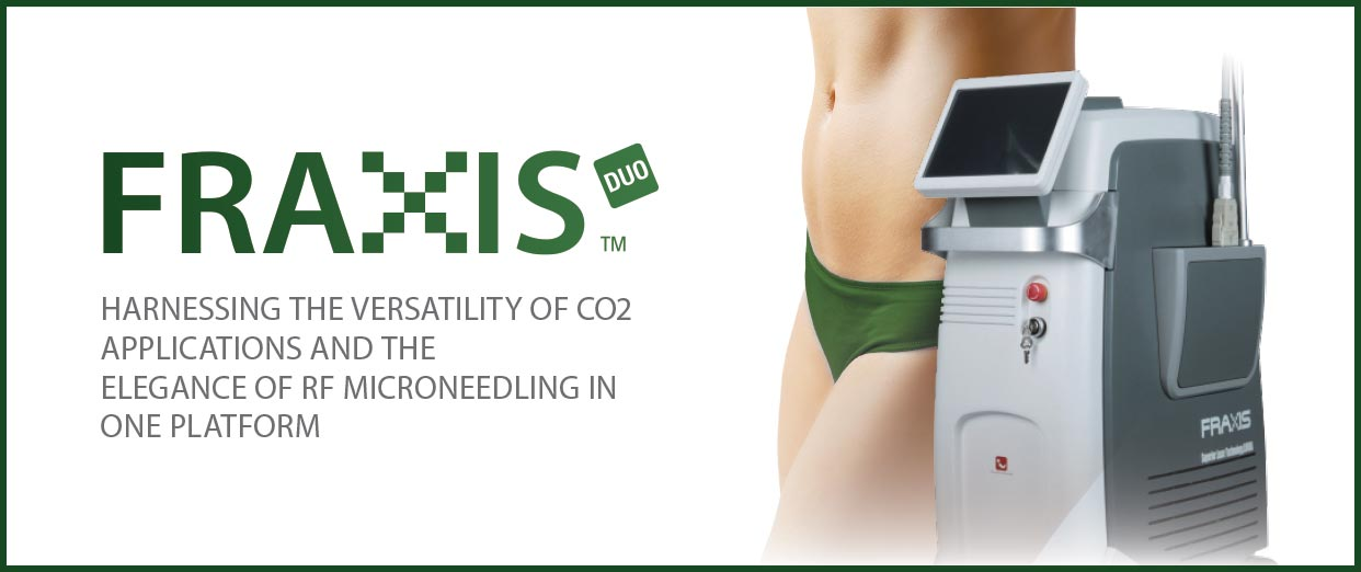 Fraxis Duo Harnessing the versatility of CO2 Applications and the Elegence of RF Microneedling in One Platform | Emvera Cosmetic and Medical Devices
