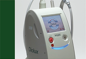 Diolux Hair Removal Diode Device Button | Emvera Technologies, Medical and Cosmetic Devices